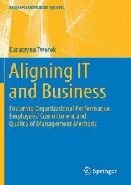 [+]The best book of the month Aligning IT and Business: Fostering Organizational Performance, Employees  Commitment and Quality of Management Methods (Business Information Systems)  [READ]