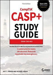 [+]The best book of the month CASP+ CompTIA Advanced Security Practitioner Study Guide: Exam CAS-003 (Study Guides)  [NEWS]