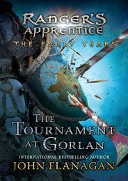 [+]The best book of the month The Tournament at Gorlan (Ranger s Apprentice Early Year)  [DOWNLOAD]
