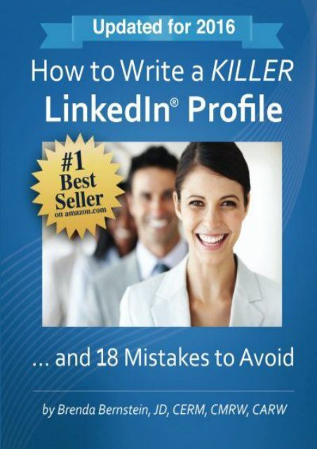[+][PDF] TOP TREND How to Write a KILLER LinkedIn Profile... And 18 Mistakes to Avoid  [NEWS]