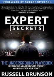 [+]The best book of the month Expert Secrets: The Underground Playbook for Creating a Mass Movement of People Who Will Pay for Your Advice  [FULL]