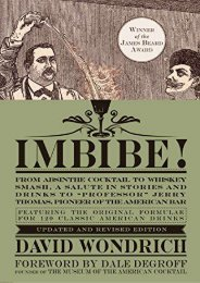 [+][PDF] TOP TREND Imbibe! Updated and Revised Edition: From Absinthe Cocktail to Whiskey Smash, a Salute in Stories and Drinks to