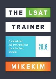 [+]The best book of the month The LSAT Trainer: A remarkable self-study guide for the self-driven student  [NEWS]