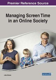 [+][PDF] TOP TREND Managing Screen Time in an Online Society (Advances in Human and Social Aspects of Technology)  [FREE]