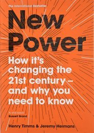 [+]The best book of the month New Power: Why outsiders are winning, institutions are failing, and how the rest of us can keep up in the age of mass participation  [READ]