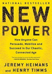 [+]The best book of the month New Power: How Anyone Can Persuade, Mobilize, and Succeed in Our Chaotic, Connected Age  [FREE]