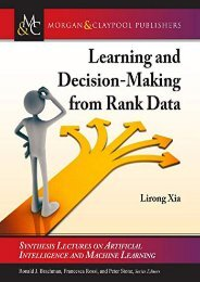 [+][PDF] TOP TREND Learning and Decision-Making from Rank Data (Synthesis Lectures on Artificial Intelligence and Machine Learning)  [NEWS]