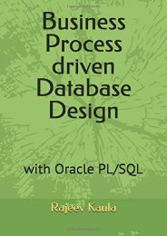 [+]The best book of the month Business Process driven Database Design: with Oracle PL/SQL  [FULL]