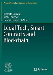[+]The best book of the month Legal Tech, Smart Contracts and Blockchain (Perspectives in Law, Business and Innovation)  [FREE]