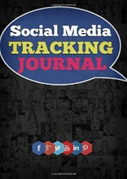 [+]The best book of the month Social Media Tracking Journal: Keep track of your social media Tracking and advertising  [FULL]