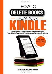 [+]The best book of the month HOW TO DELETE BOOKS FROM YOUR KINDLE: The Ultimate Guide to Remove Books From All Your Kindle Device and Troubleshoot Common Problems  [NEWS]