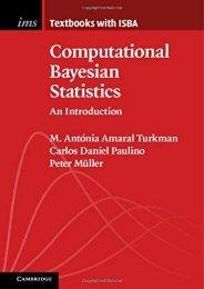 [+][PDF] TOP TREND Computational Bayesian Statistics: An Introduction (Institute of Mathematical Statistics Textbooks)  [NEWS]