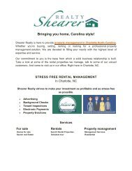 Leading property management in Charlotte, NC | Shearer Realty