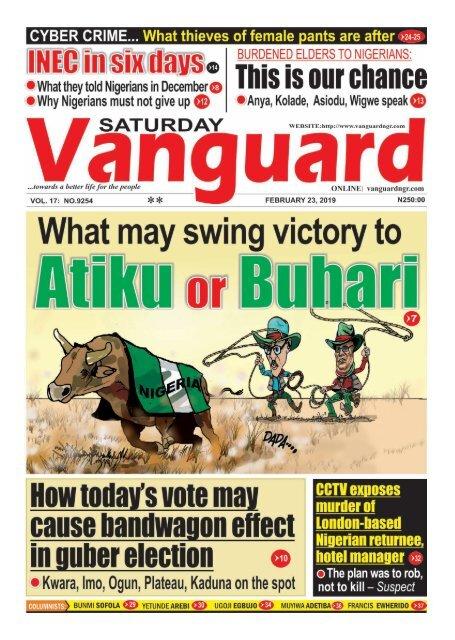 23022019 - What may swing victory to Atiku or Buhari