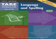 [read ebook] TABE Fundamentals: Language and Spelling, Level M [PDF EPUB KINDLE]