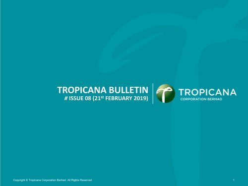 Tropicana Bulletin Issue 08, 2019