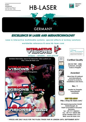 EXCELLENCE IN LASER AND MEDIATECHNOLOGY - HB-Laser