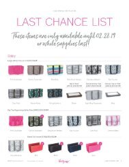 Last Chance List | Fall/Winter 2018 Catalog