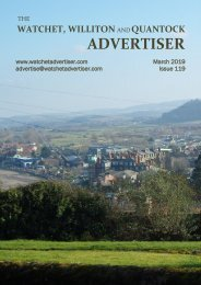 Watchet, Williton and Quantock Advertiser, March 2019