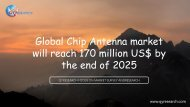 Global Chip Antenna market will reach 170 million US$ by the end of 2025