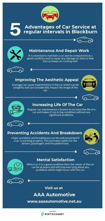 5 Advantages of Car Service at regular intervals in Blackburn