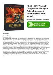 FREE~DOWNLOAD Dungeons and Dragons Art and Arcana A Visual History {read online}