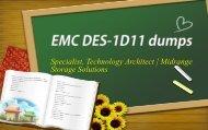 2019 valid DELL EMC DES-1D11 dumps