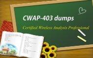 CWAP Certification CWAP-403 dumps