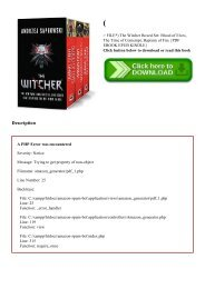 (P.D.F. FILE) The Witcher Boxed Set Blood of Elves  The Time of Contempt  Baptism of Fire {PDF EBOOK EPUB KINDLE}