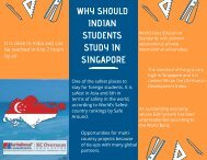 Why should Indian students study in Singapore