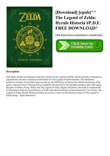 Download Epub The Legend Of Zelda Hyrule Historia P D F Free Download