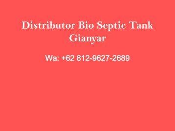 Agen, Wa +62 812-9627-2689, Jual Bio Septic Tank Sukawati, Gianyar