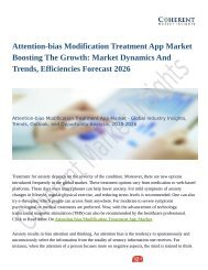 Attention-bias Modification Treatment App Market Boosting The Growth: Market Dynamics And Trends, Efficiencies Forecast 2026