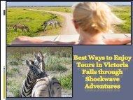 Best Ways to Enjoy Tours in Victoria Falls through Shockwave Adventures