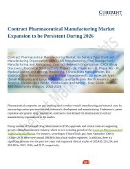 Contract Pharmaceutical Manufacturing Market Size, Share, Outlook, and Opportunity Analysis, 2018-2026