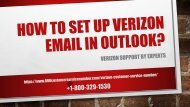 How to Set Up Verizon Email in Outlook