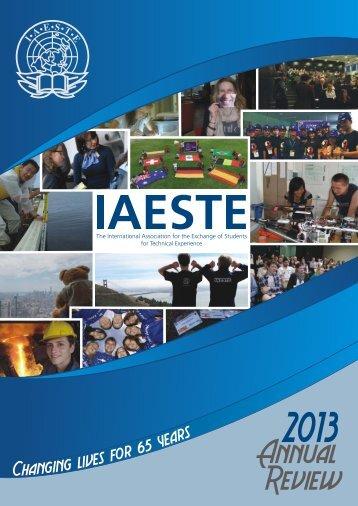 IAESTE A.s.b.l. Annual Review 2013