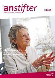 Anstifter 1, 2019 der Stiftung Liebenau