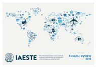 IAESTE A.s.b.l. Annual Review 2015