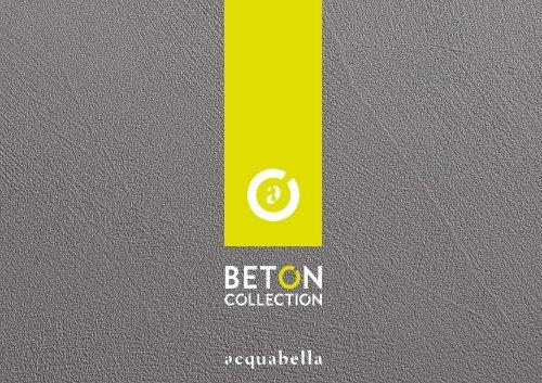 Acquabella - Catálogo - folleto Beton