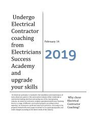 Undergo Electrical Contractor coaching from Electricians Success Academy and upgrade your skills