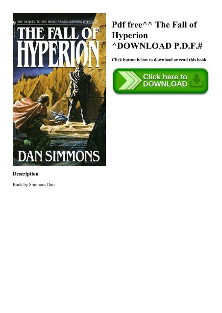 Pdf hyperion dan simmons Hypérion by