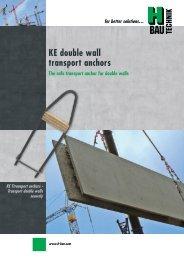 KE double wall transport anchors - H-Bau Technik GmbH