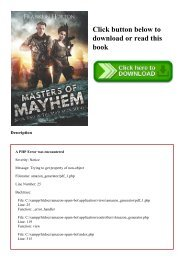 (READ)^ Masters of Mayhem Book Two in The Mad Mick Series [KINDLE EBOOK EPUB]