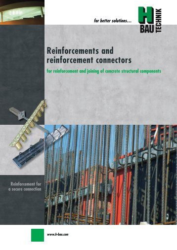 Reinforcement for a safe connection - H-Bau Technik GmbH