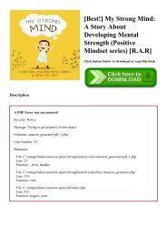 [Best!] My Strong Mind A Story About Developing Mental Strength (Positive Mindset series) [R.A.R]