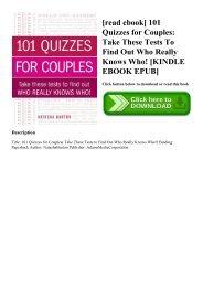 [read ebook] 101 Quizzes for Couples Take These Tests To Find Out Who Really Knows Who! [KINDLE EBOOK EPUB]