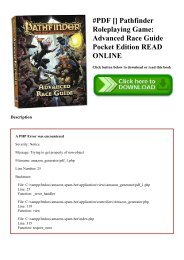 Players pathfinder guide pdf rpg advanced
