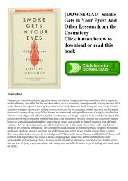 {DOWNLOAD} Smoke Gets in Your Eyes And Other Lessons from the Crematory (DOWNLOAD E.B.O.O.K.^)