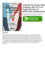 textbook$ The Human Magnet Syndrome Why We Love People Who Hurt Us [PDF EPuB AudioBook Ebook]